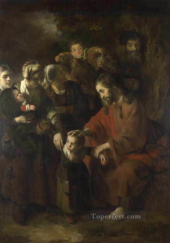 Christ Blessing the Children Baroque Nicolaes Maes Oil Paintings