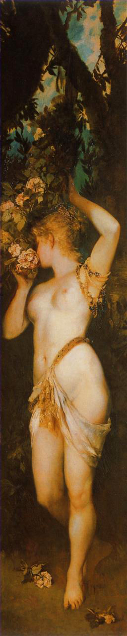 die funf sinne geruch nude Hans Makart Oil Paintings
