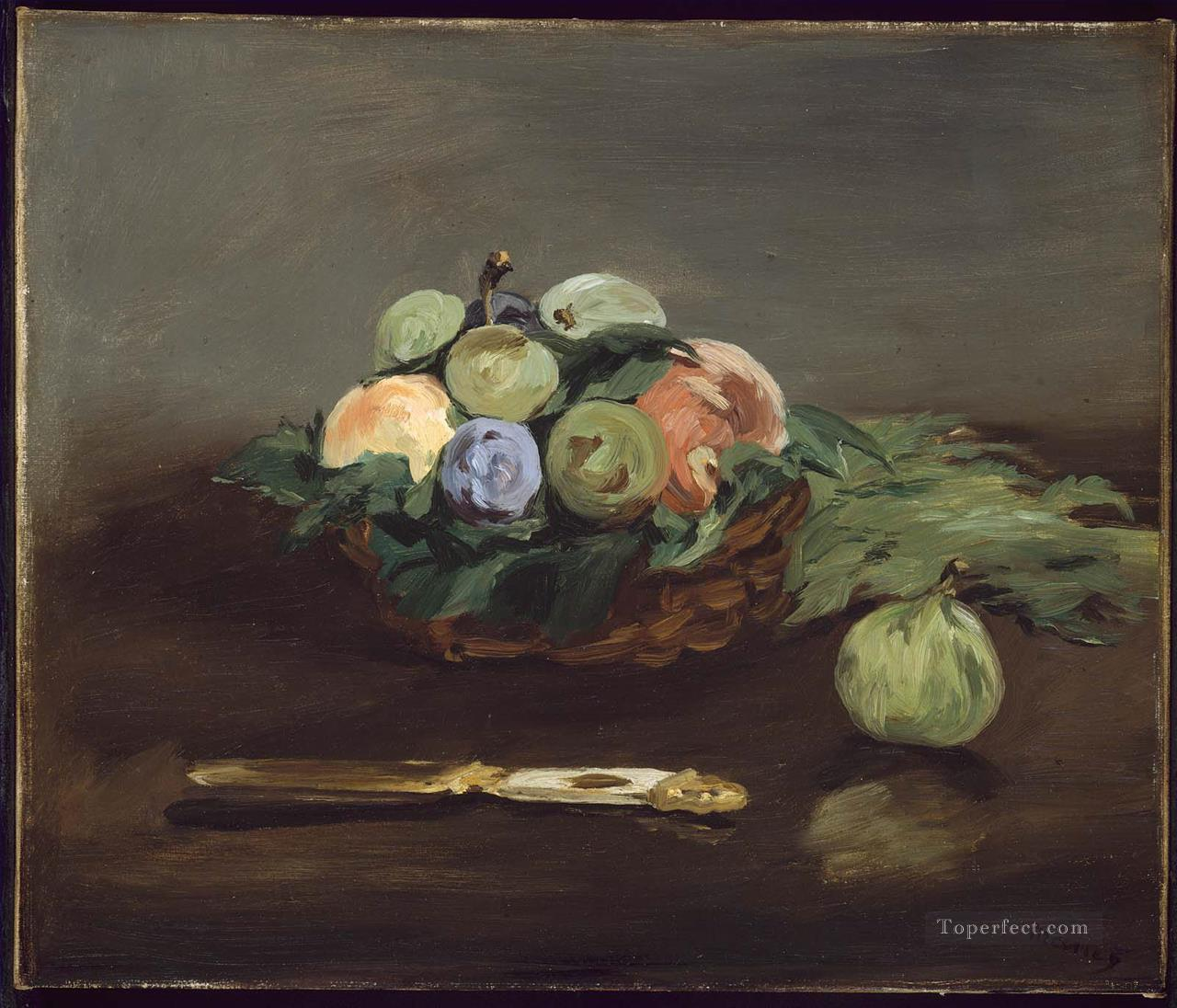 Basket Of Fruit still life Impressionism Edouard Manet Oil Paintings