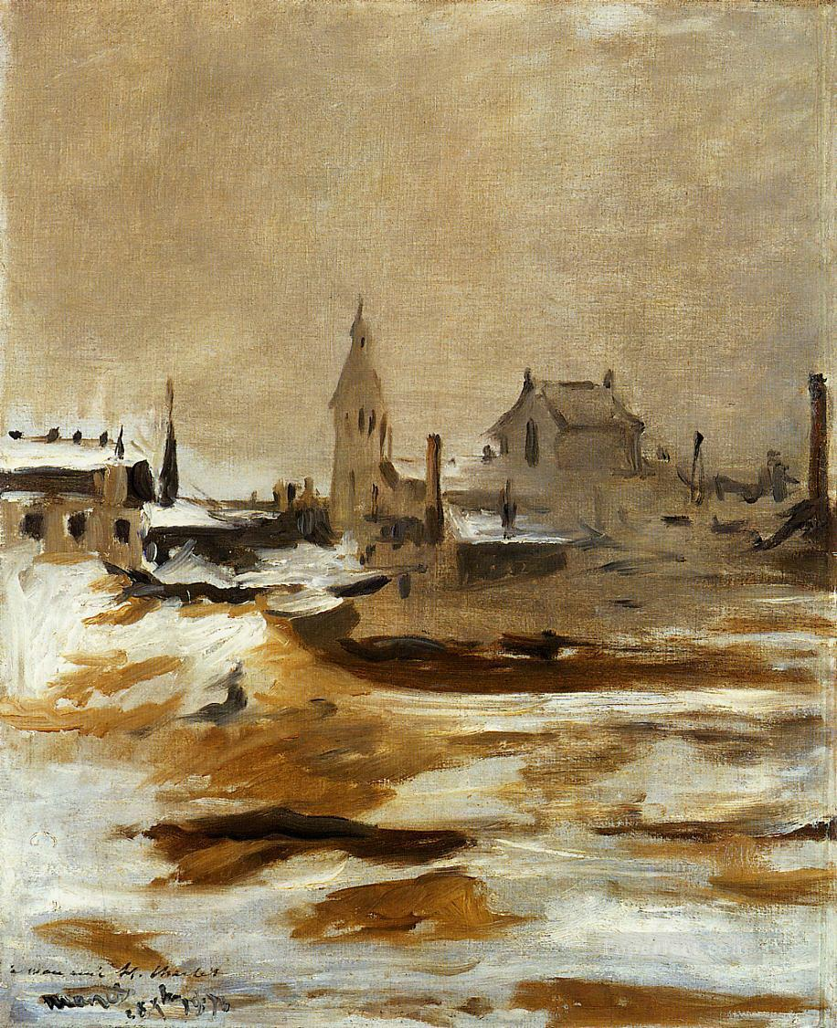 Effect of Snow at Petit Montrouge Eduard Manet Oil Paintings