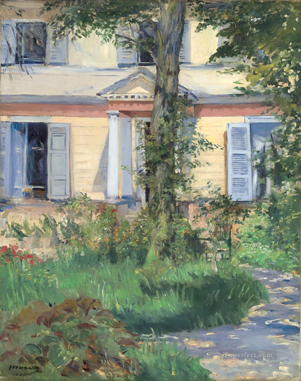 The House at Rueil Realism Impressionism Edouard Manet Oil Paintings