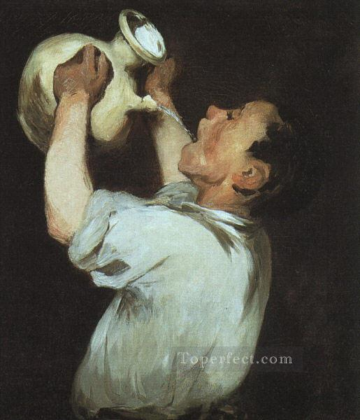 A boy with a pitcher Eduard Manet Oil Paintings