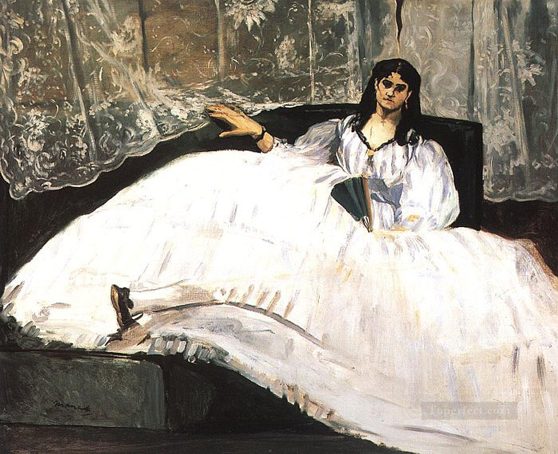 Baudelaires Mistress Reclining Study of Jeanne Duval Realism Impressionism Edouard Manet Oil Paintings