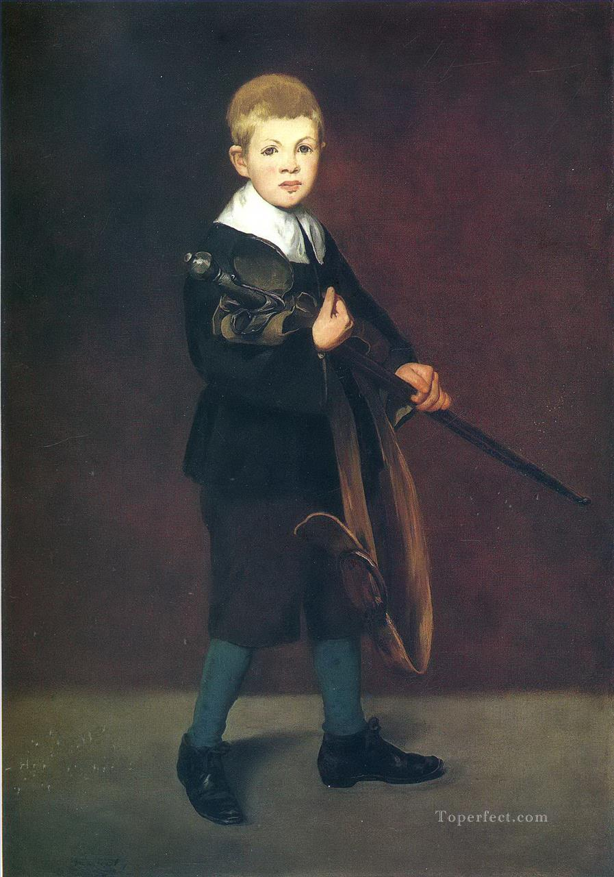 Boy with a sword Eduard Manet Oil Paintings