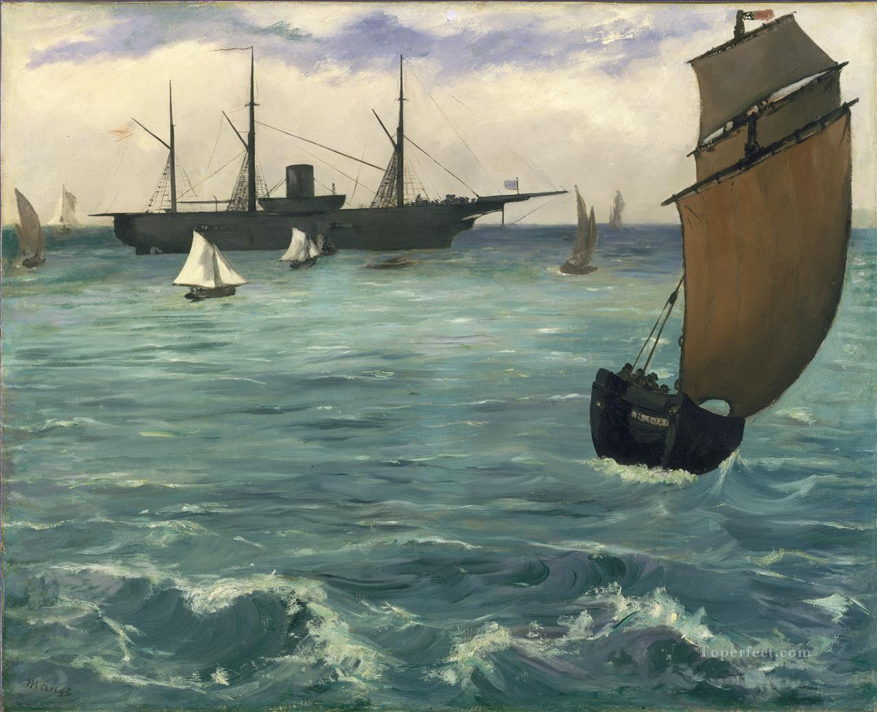 Fishing boat coming in before the wind Eduard Manet Oil Paintings