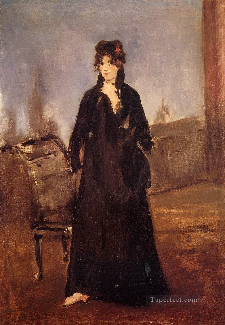 Young woman with a pink shoe Eduard Manet Oil Paintings
