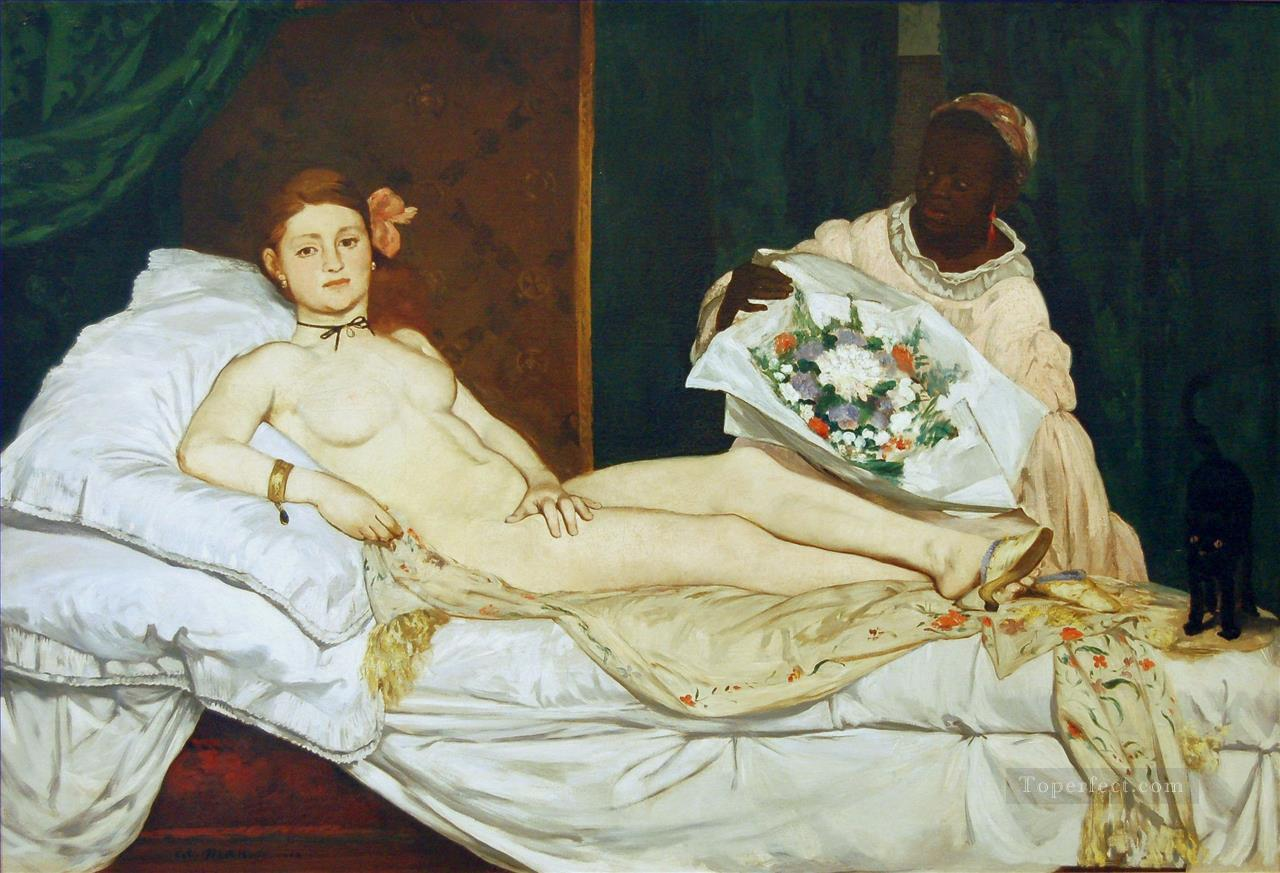 olympia nude Impressionism Edouard Manet Oil Paintings