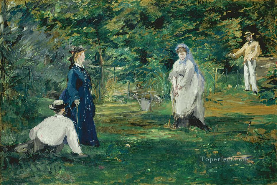 Croquet Eduard Manet Oil Paintings