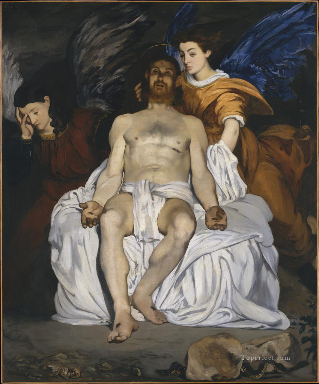 The Dead Christ with Angels Eduard Manet Oil Paintings