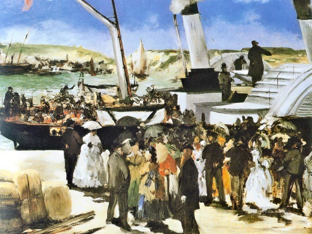 The Departure Of The Folkestone Boat Eduard Manet Oil Paintings