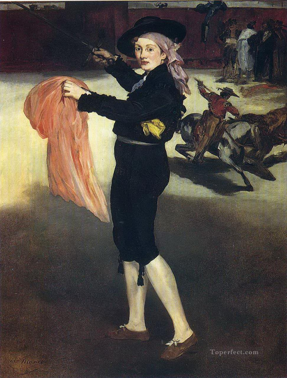 Victorine Meurent in the costume of an Espada Eduard Manet Oil Paintings