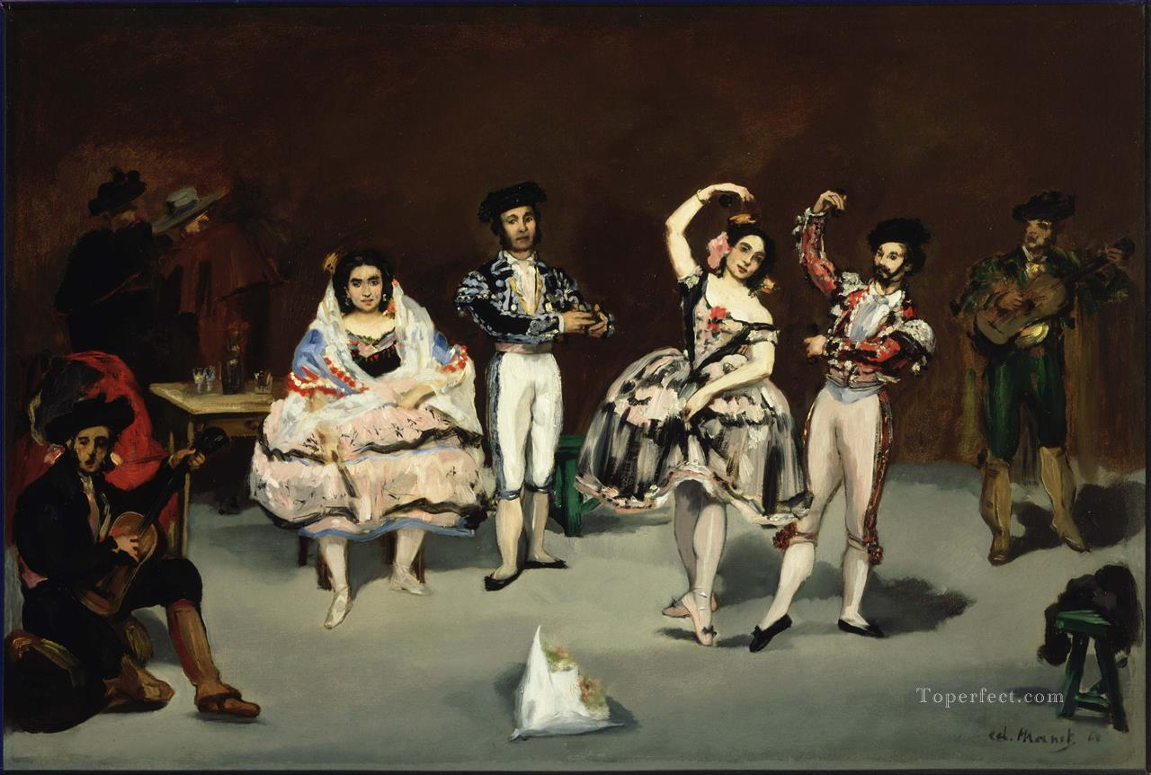 The spanish ballet Eduard Manet Oil Paintings