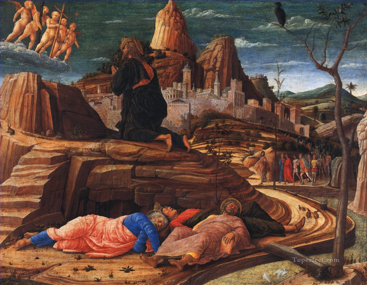 The agony in the garden Renaissance painter Andrea Mantegna Oil Paintings