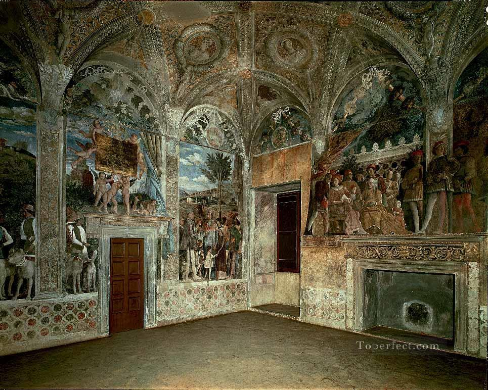 View of the West and North Walls Renaissance painter Andrea Mantegna Oil Paintings