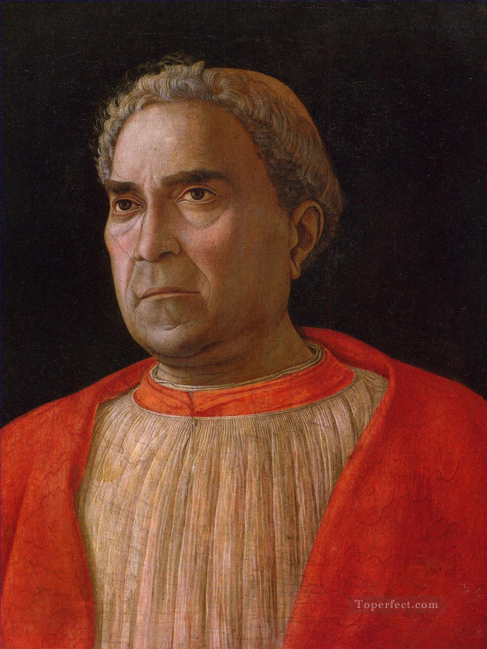 Cardinal Ludovico Trevisano Renaissance painter Andrea Mantegna Oil Paintings