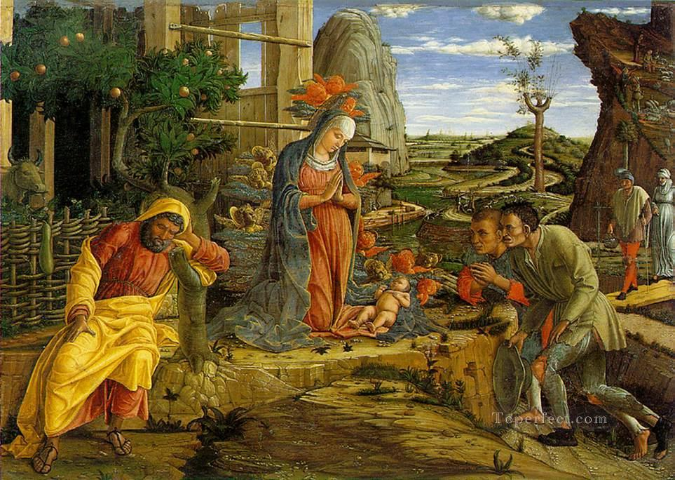 Adoration of the Shepherds Renaissance painter Andrea Mantegna Oil Paintings