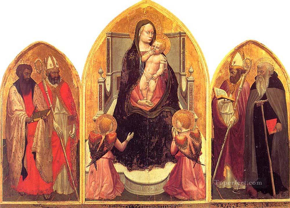 San Giovenale Triptych Christian Quattrocento Renaissance Masaccio Oil Paintings
