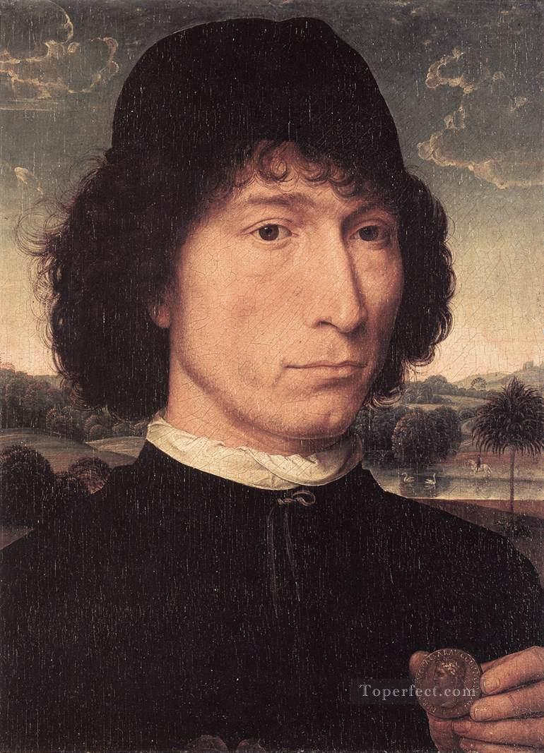 Portrait of a Man with a Roman Coin 1480or later Netherlandish Hans Memling Oil Paintings