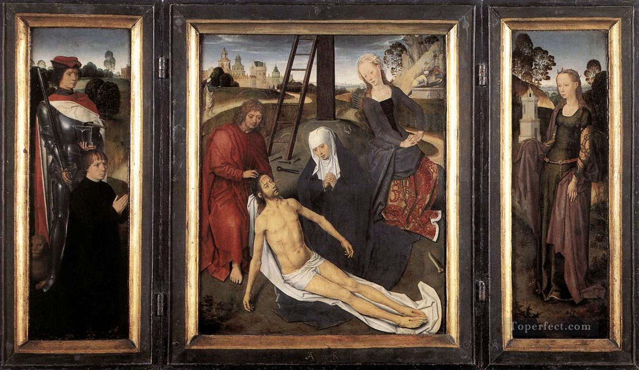 Triptych of Adriaan Reins 1480 Netherlandish Hans Memling Oil Paintings