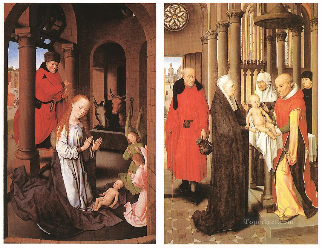 Wings of a Triptych 1470 Netherlandish Hans Memling Oil Paintings