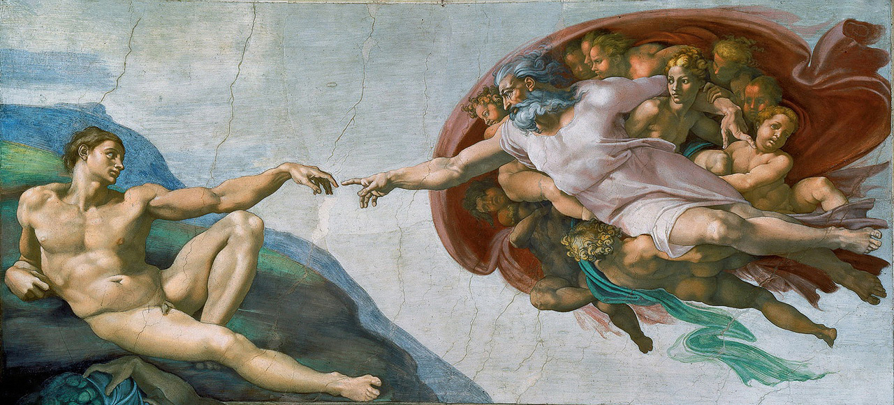 Creation of Adam Michelangelo Oil Paintings