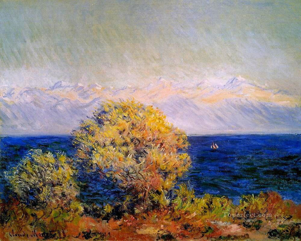 At Cap d Antibes Mistral Wind Claude Monet Oil Paintings