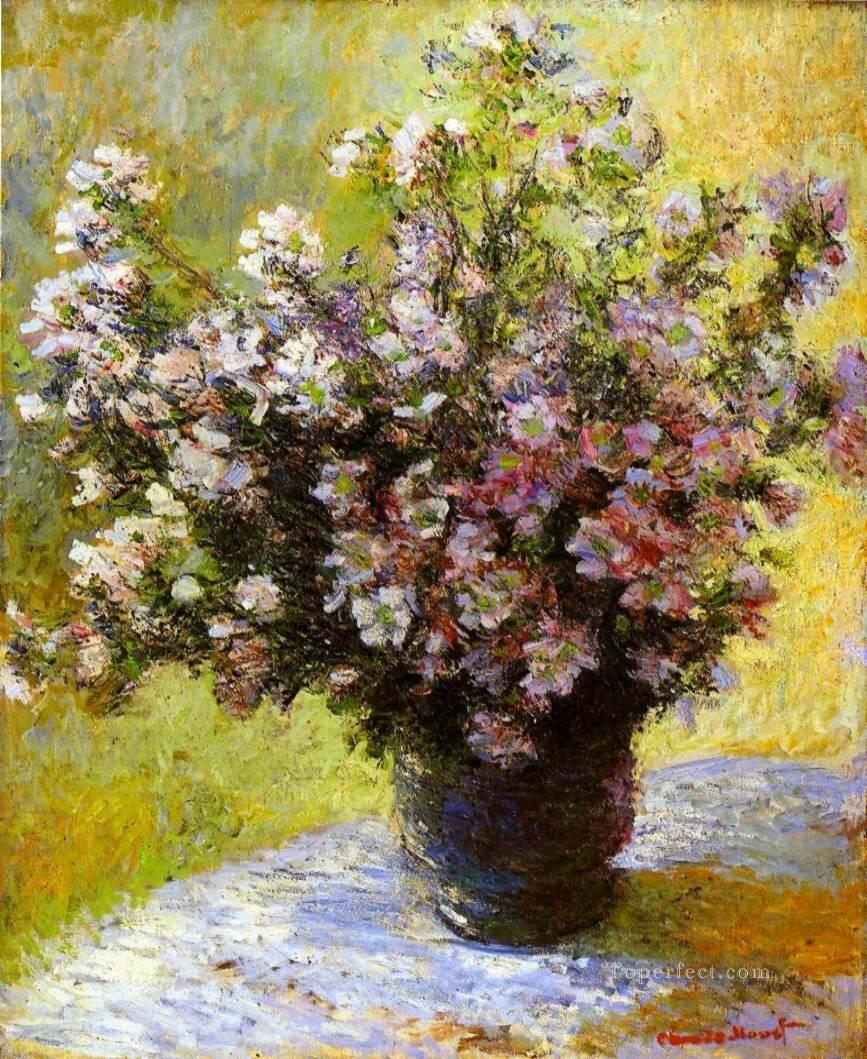 Bouquet of Mallows Claude Monet Oil Paintings