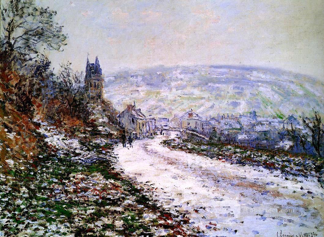 Entering the Village of Vetheuil in Winter Claude Monet Oil Paintings