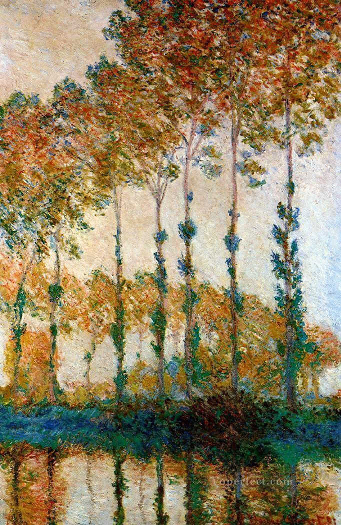 Poplars on the Banks of the River Epte in Autumn Claude Monet Oil Paintings