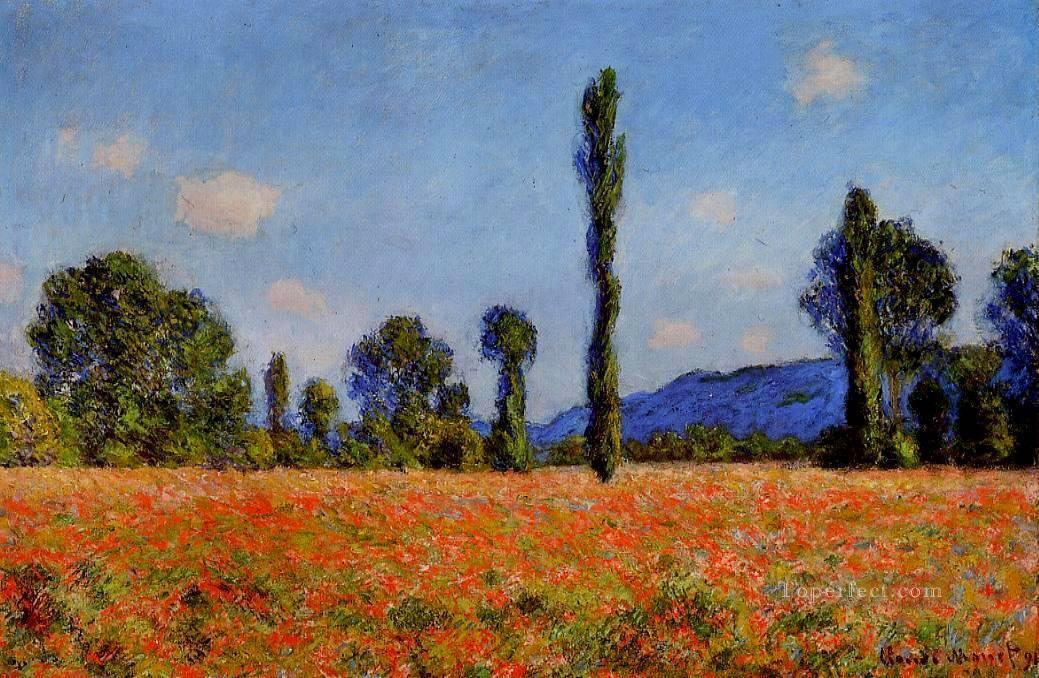Poppy Field Claude Monet Oil Paintings