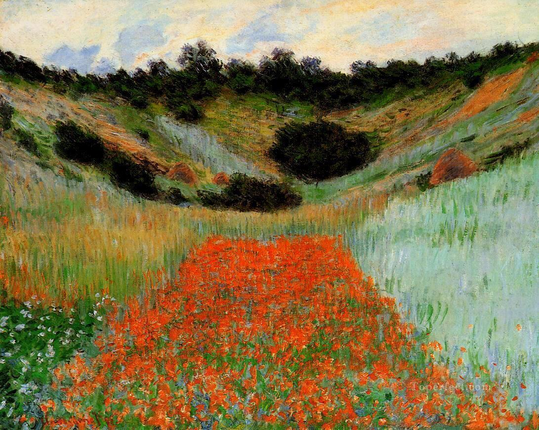 Poppy Field at Giverny II Claude Monet Oil Paintings