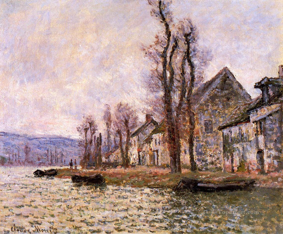 The Bend of the Seine at Lavacourt Winter Claude Monet Oil Paintings