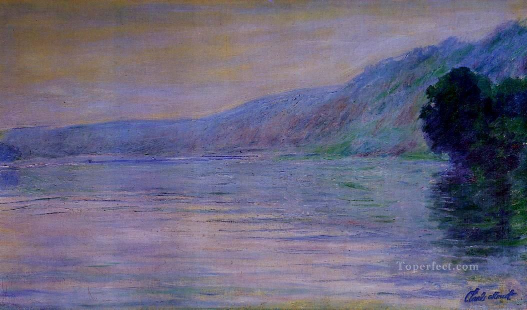 The Seine at PortVillez Harmony in Blue Claude Monet Oil Paintings