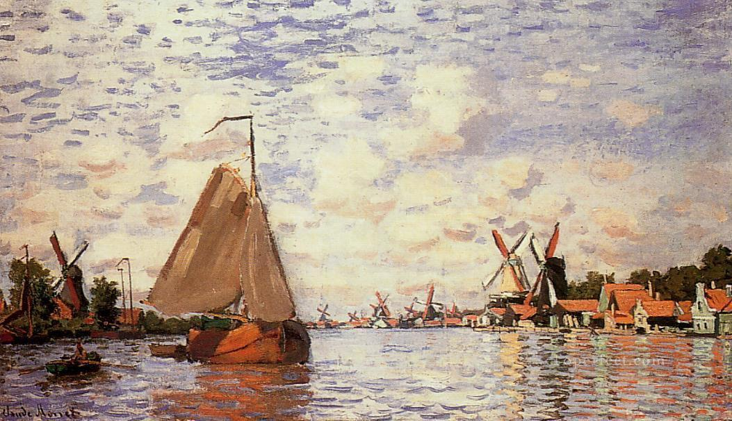 The Zaan at Zaandam Claude Monet Oil Paintings