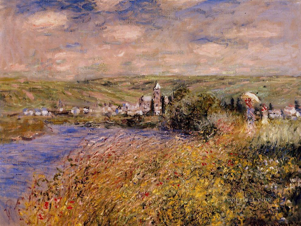 Vetheuil Seen from Ile Saint Martin Claude Monet Oil Paintings
