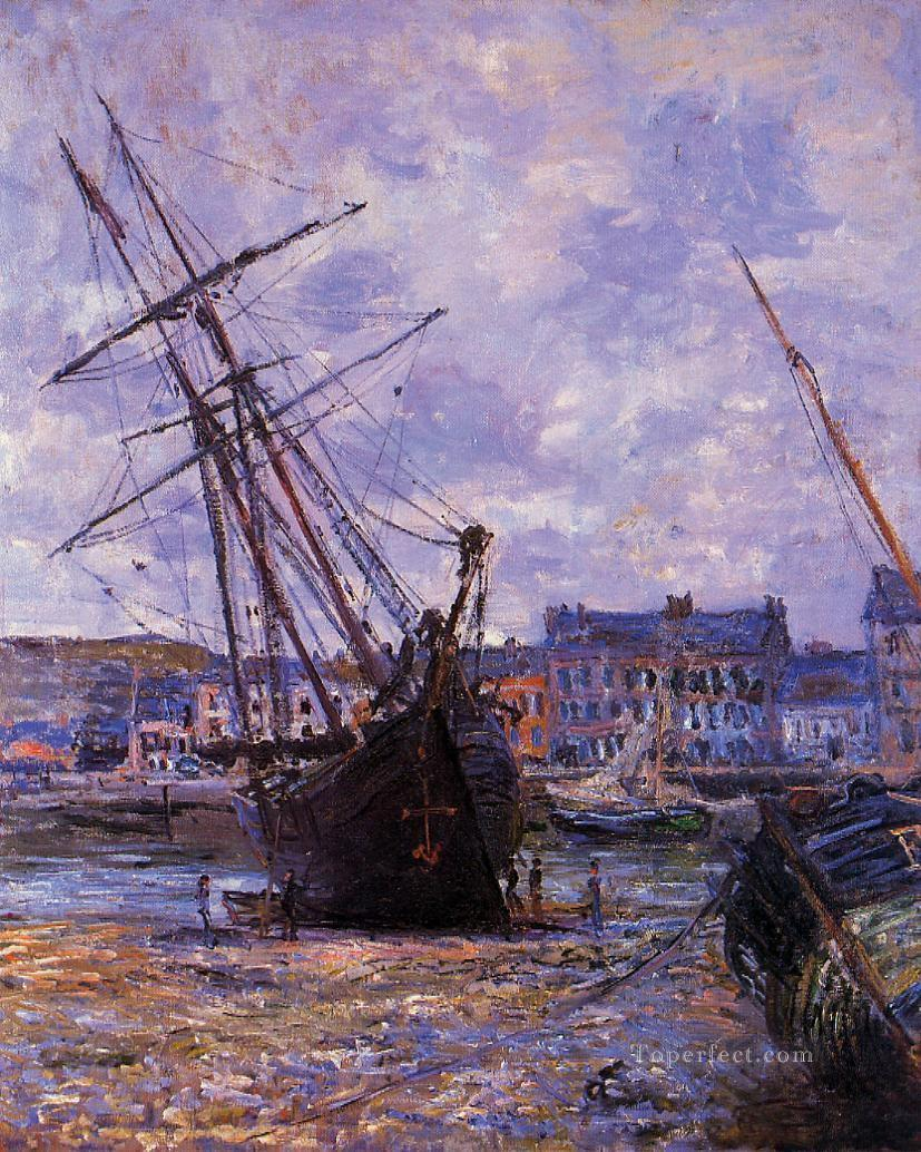 Boats Lying at Low Tide at Facamp Claude Monet Oil Paintings