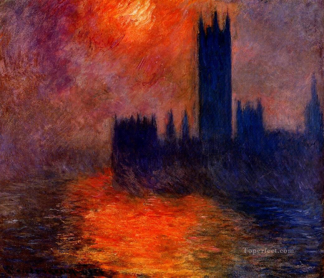 Houses of Parliament Sunset II Claude Monet Oil Paintings