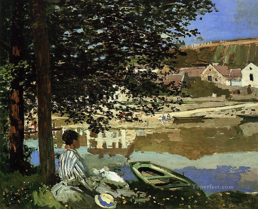 River Scene at Bennecourt Claude Monet Oil Paintings