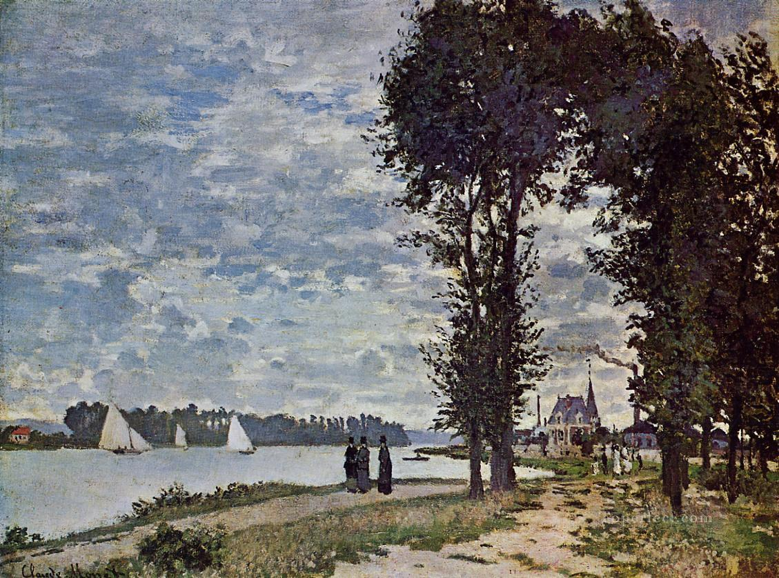 The Banks of the Seine at Argenteuil Claude Monet Oil Paintings