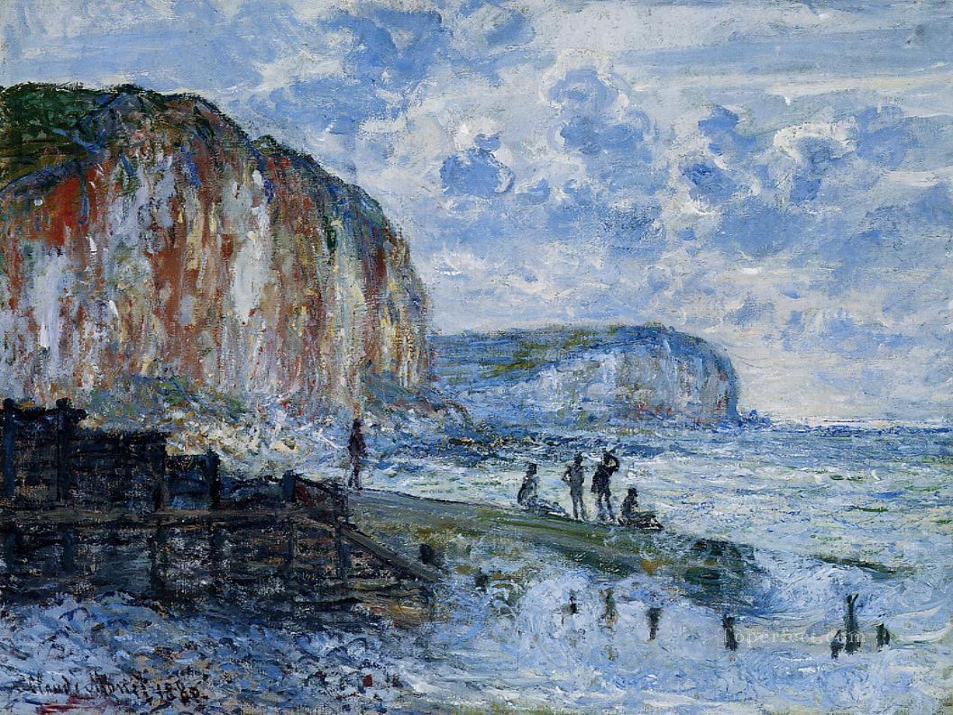 The Cliffs of Les PetitesDalles Claude Monet Oil Paintings