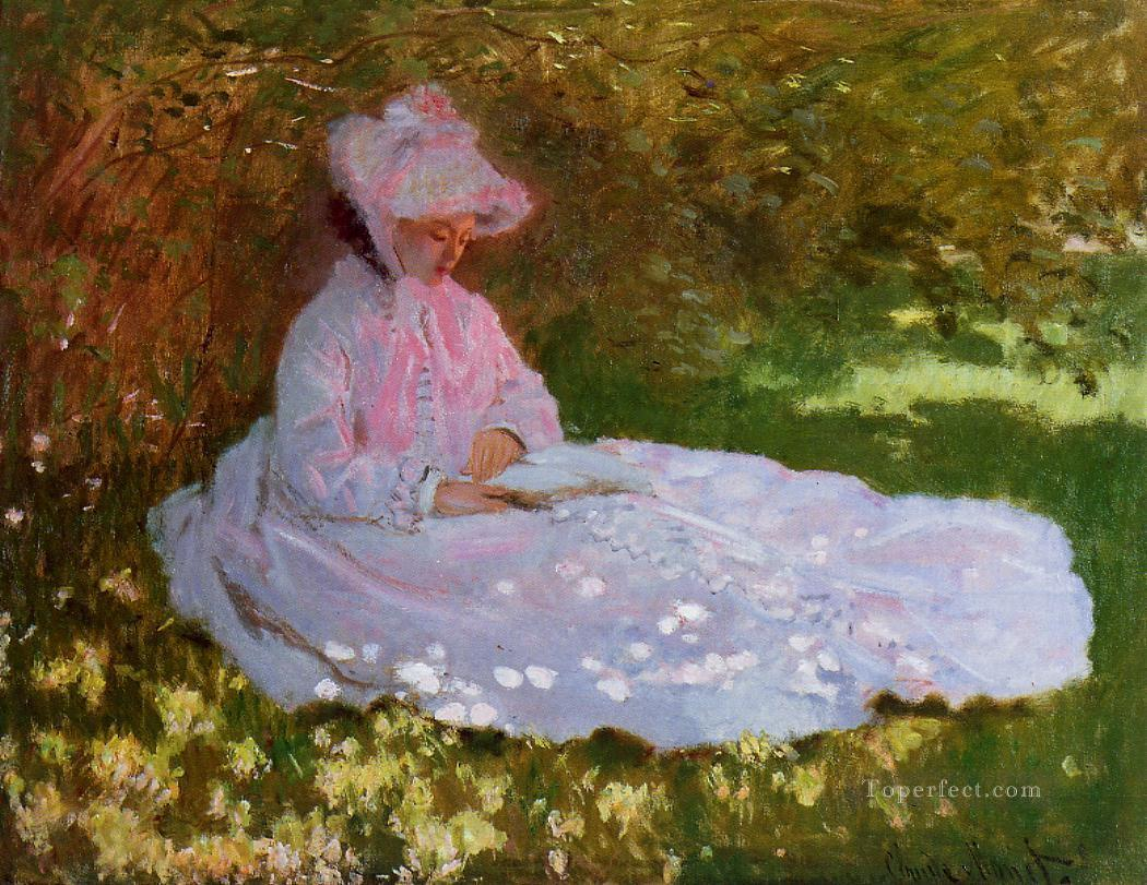 The Reader Claude Monet Oil Paintings