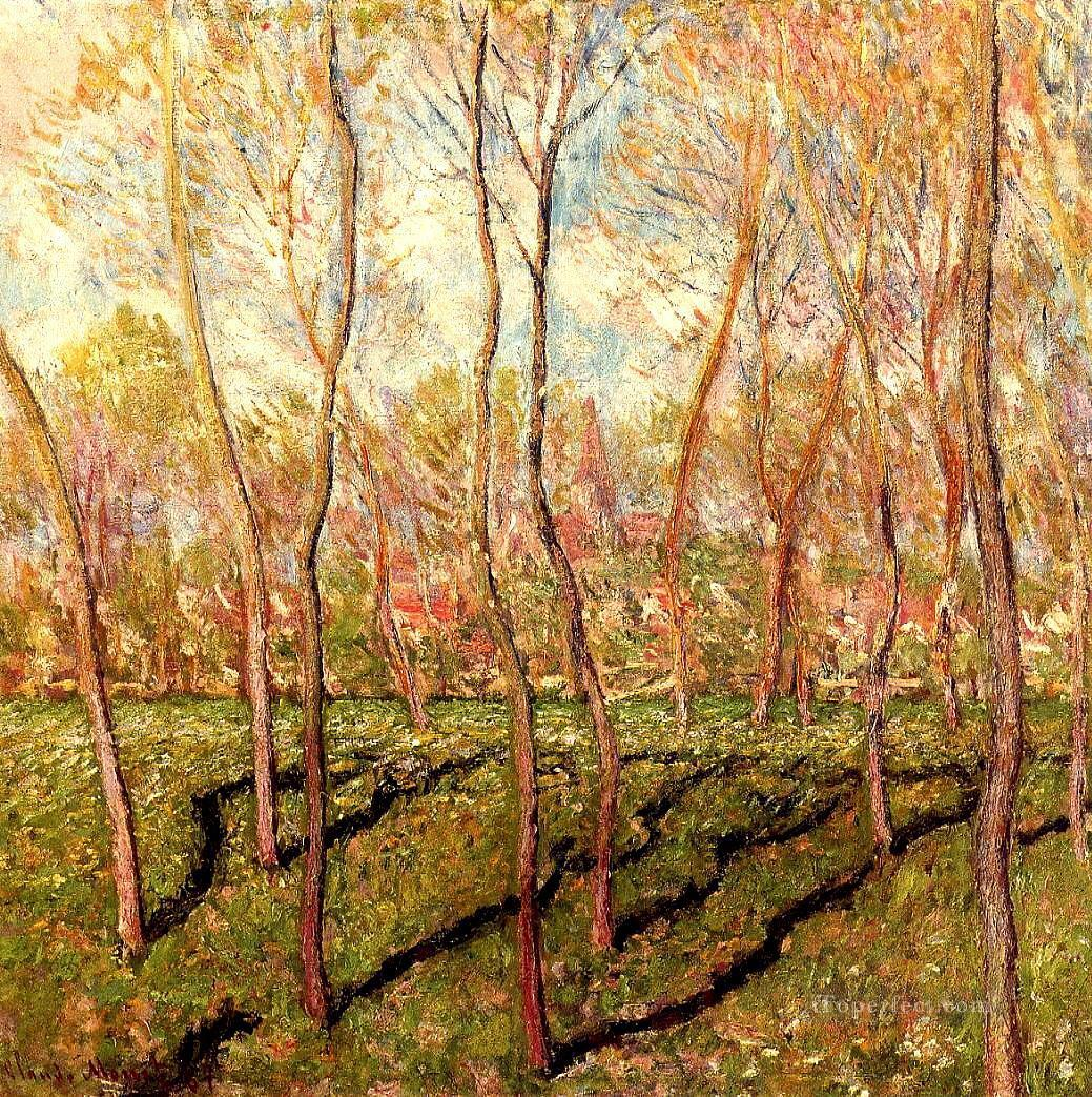 Trees in Winter View of Bennecourt II Claude Monet Oil Paintings