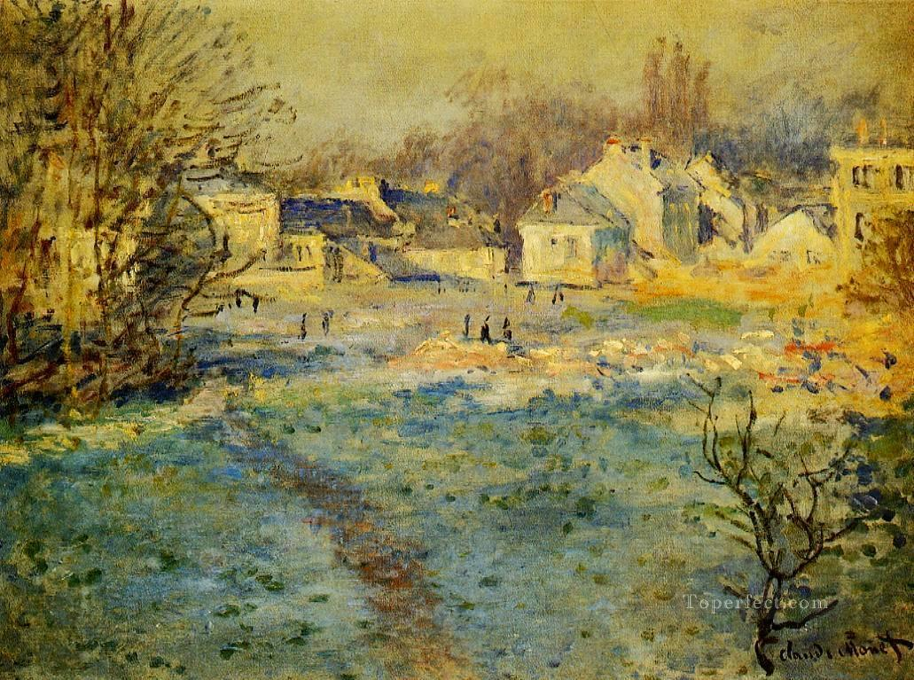 White Frost Claude Monet Oil Paintings