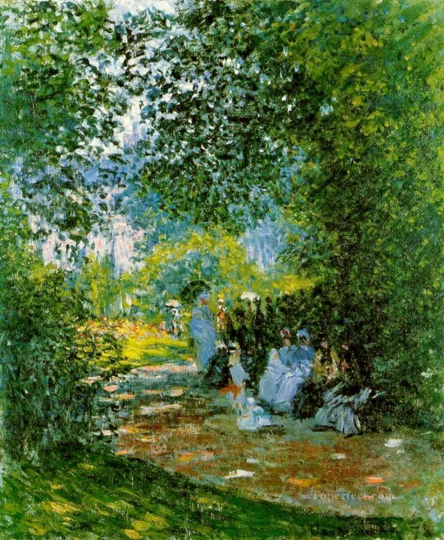 At the Parc Monceau Claude Monet Oil Paintings