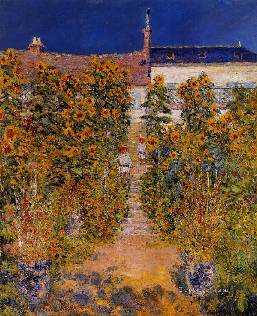 The Artist s Garden at Vetheuil Claude Monet Painting in Oil for Sale