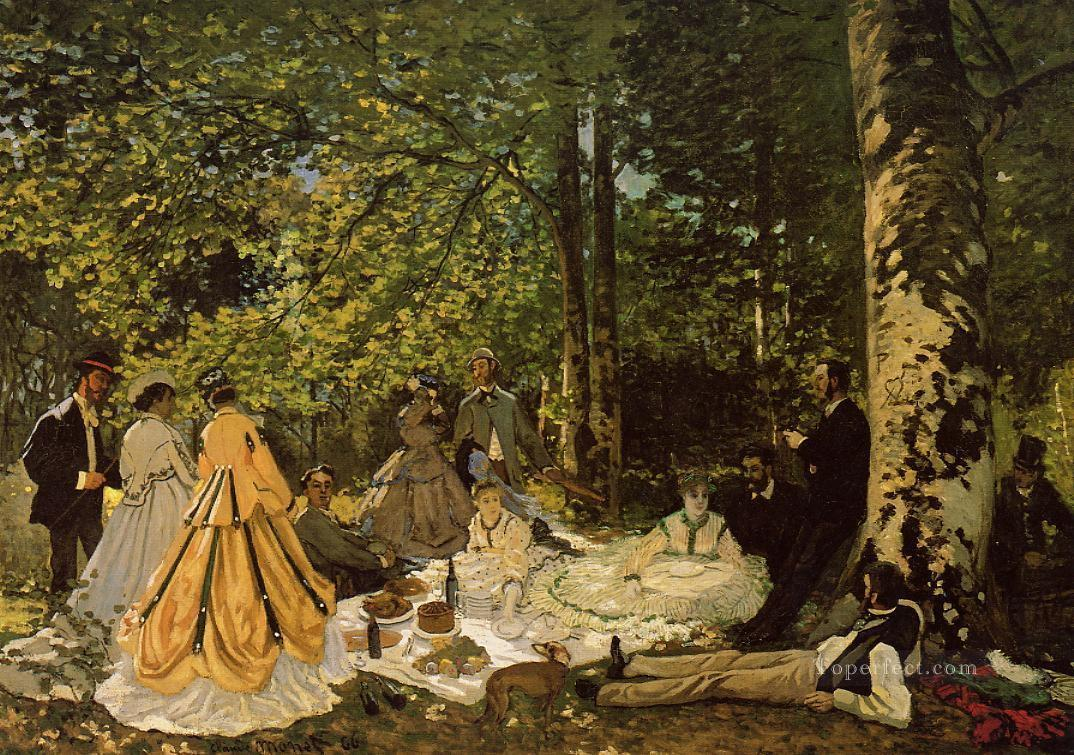 Luncheon on the Grass Claude Monet Oil Paintings