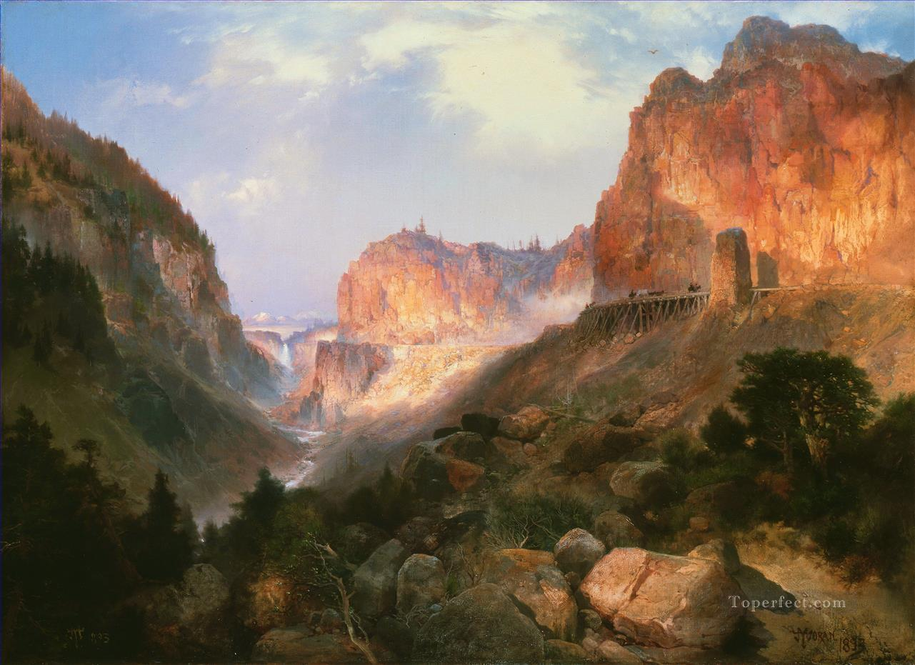 Golden Gate Yellowstone National Park Thomas Moran Oil Paintings