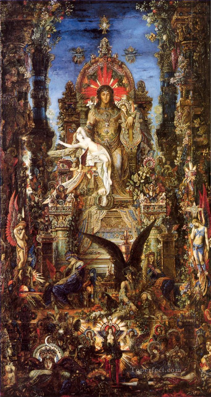 Jupiter and Semele Symbolism biblical mythological Gustave Moreau Oil Paintings
