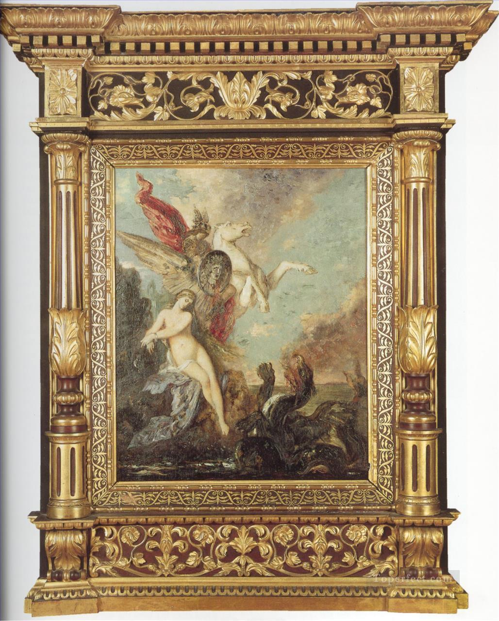 andromeda Symbolism biblical mythological Gustave Moreau Oil Paintings