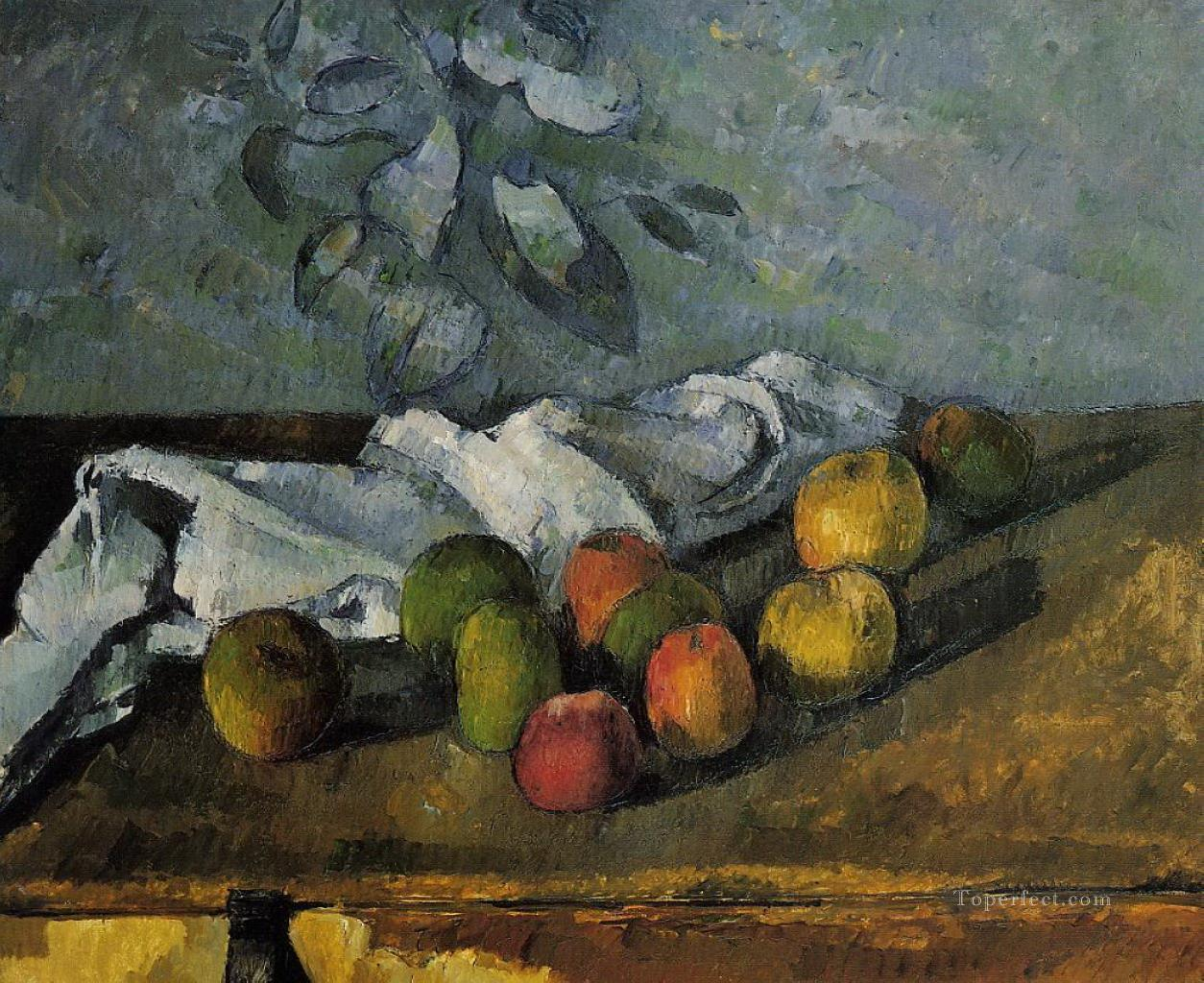 Apples and a Napkin Paul Cezanne Oil Paintings